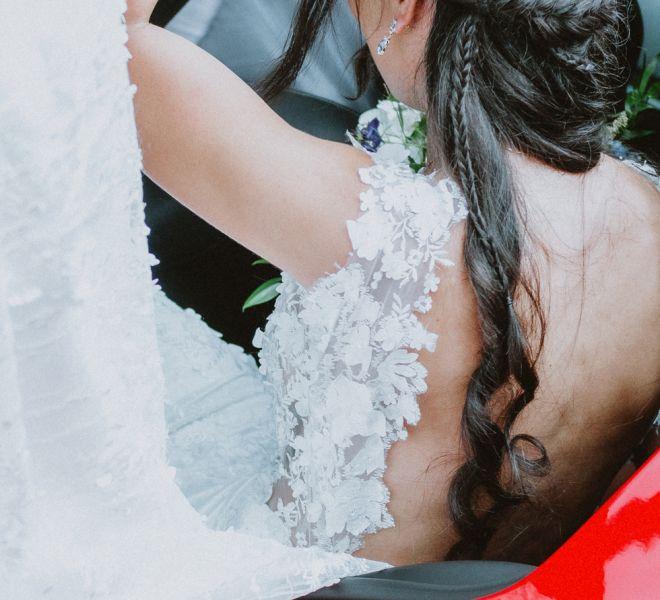 novia-coche-de-boda-pazo-cerca-de-santiago