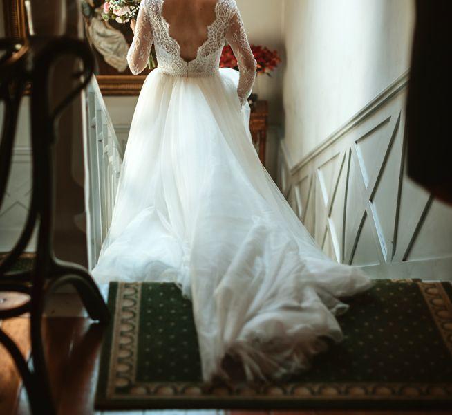 preciosa-novia-bajando-escaleras-boda-en-pazo-santiago